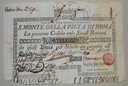 Cedola dello Stato Pontificio